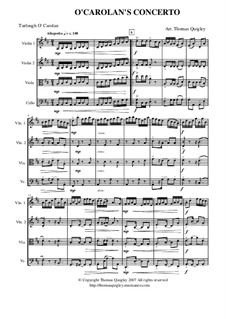 O Carolan's Concerto: For string quartet by Turlough O'Carolan