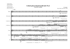 6 choir pieces based in old style: No.2 ( 1S, 1MS, 2CT,2T, 1B), MVWV 500 by Maurice Verheul