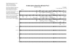 6 choir pieces based in old style: No.3 (2S, 1MS, 1CA, 2CT, 2T, 1B), MVWV 501 by Maurice Verheul