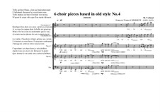 6 choir pieces based in old style: No.4 ( 2CT, 2T, 1B), MVWV 502 by Maurice Verheul