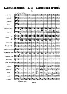 No.13 Danses des cygnes: Full score by Pyotr Tchaikovsky