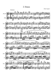 Suite für Zwei Flöten, Op.88: Teil II. Danza by Dieter Angerer