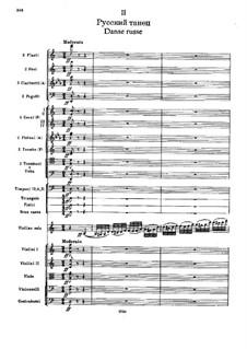 No.20a Danse russe: Full score by Pyotr Tchaikovsky