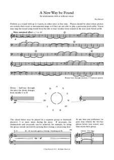 A New Way be Found, for instruments with or without voices: Version for voice, keyboard and any instrument by Paul Burnell