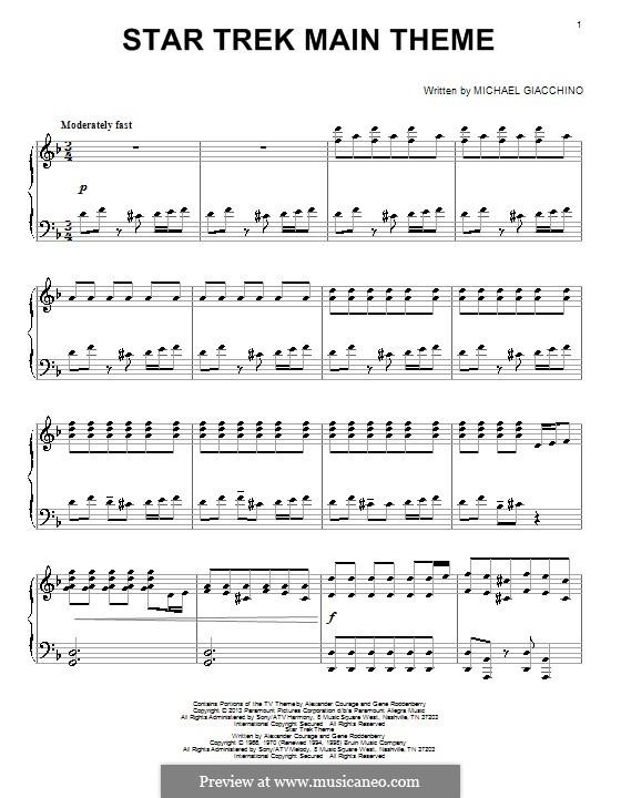 Star Trek: For piano by Michael Giacchino