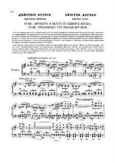 Complete Opera: Act II, Scenes IV-V – piano-vocal score by Pyotr Tchaikovsky