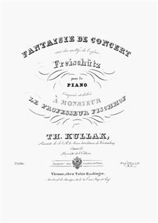 Fantaisie de Concert sur des motifs de l'opéra 'Freischütz' de Weber, Op.11: Fantaisie de Concert sur des motifs de l'opéra 'Freischütz' de Weber by Theodor Kullak