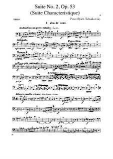 Suite No.2 in C Major, TH 32 Op.53: Cellos part by Pyotr Tchaikovsky