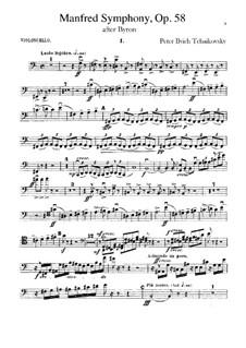 Manfred Symphony, TH 28 Op.58: Cellos part by Pyotr Tchaikovsky