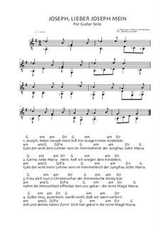 Joseph Dearest, Joseph Mine: For guitar by folklore