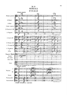 Fragments: Act I, No.9 Finale by Pyotr Tchaikovsky