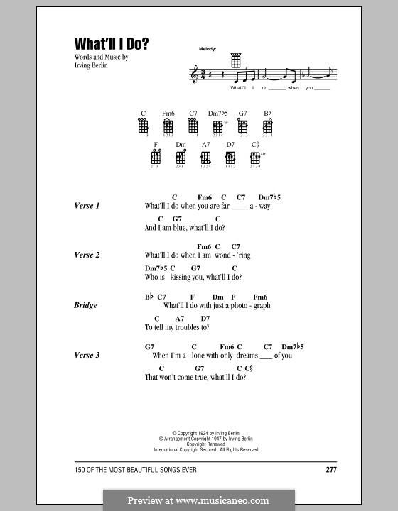 What'll I Do?: For ukulele by Irving Berlin