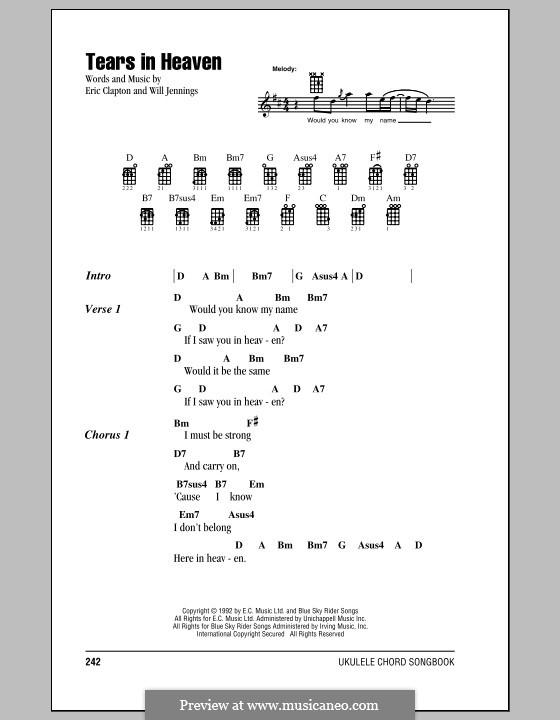 Tears in Heaven: For ukulele by Eric Clapton, Will Jennings