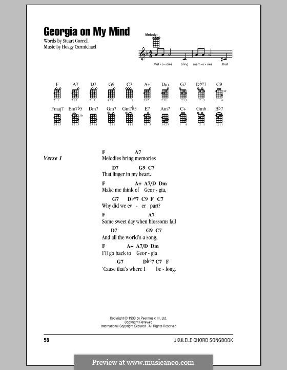 Georgia on My Mind: For ukulele by Hoagy Carmichael