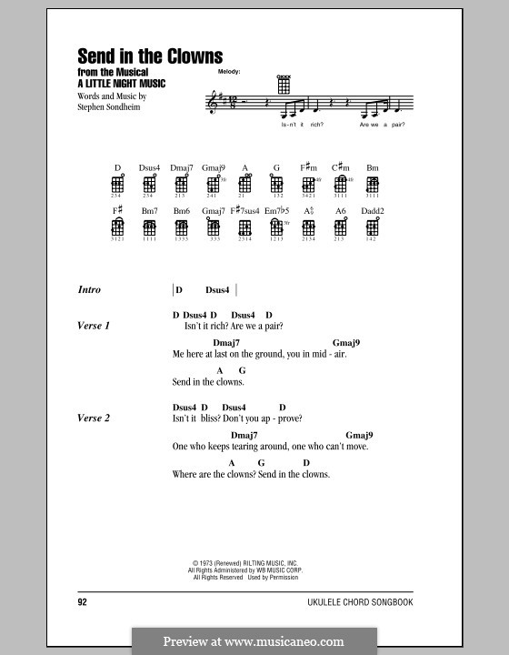 Send in the Clowns (from A Little Night Music): For ukulele by Stephen Sondheim