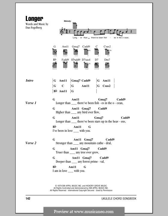 Longer: For ukulele by Dan Fogelberg