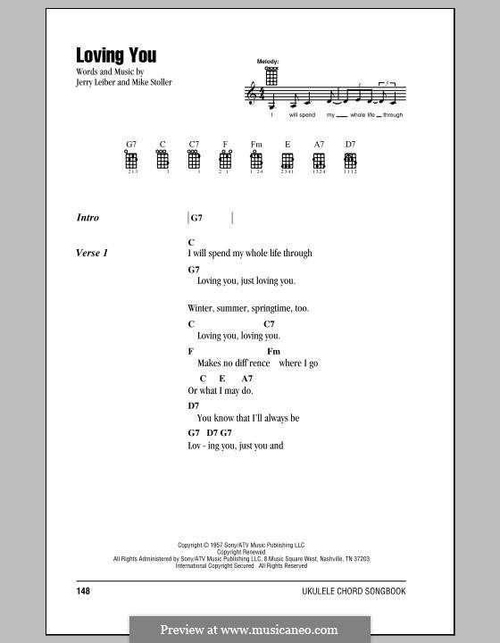 Loving You (Elvis Presley): For ukulele by Jerry Leiber, Mike Stoller