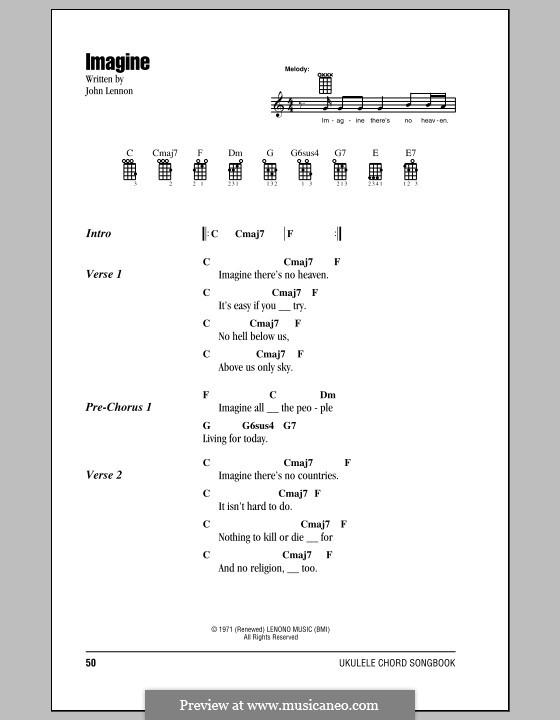 Imagine: For ukulele by John Lennon