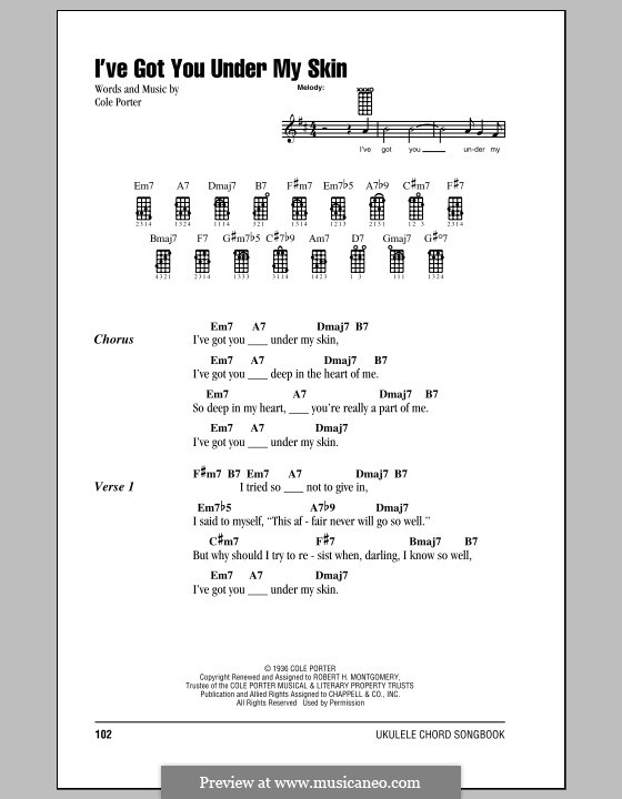 I've Got You under My Skin: For ukulele by Cole Porter