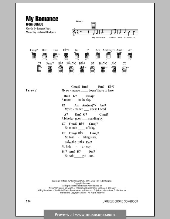My Romance: For ukulele by Richard Rodgers