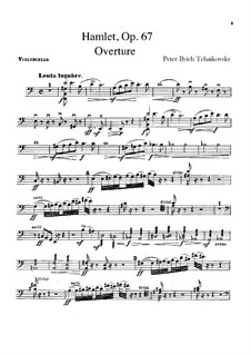 Hamlet. Overture-Fantasia, TH 53 Op.67: Cellos part by Pyotr Tchaikovsky