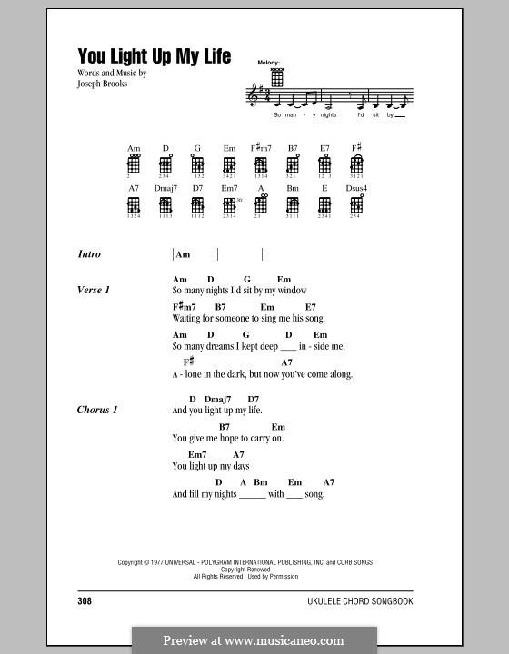 You Light Up My Life: For ukulele by Joseph Brooks