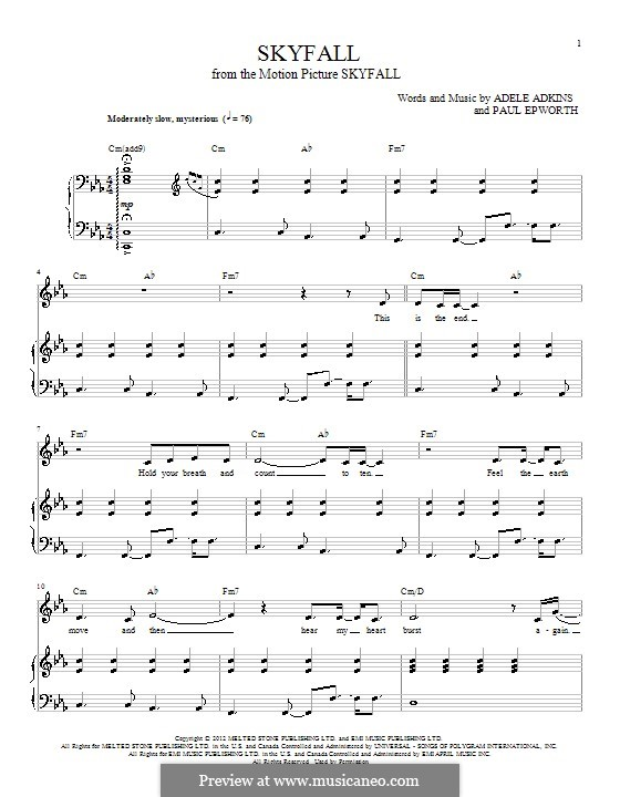 Piano-vocal score: For voice and piano by Adele, Paul Epworth