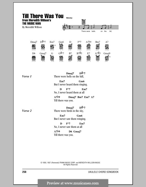 Till There Was You: For ukulele by Meredith Willson