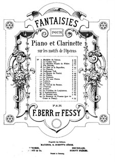 Duo Concertant for Two Clarinets with Piano Accompaniment, Op.33: Clarinet I part by Carl Baermann