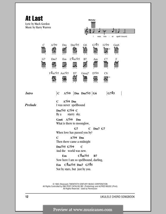 At Last Etta James By H Warren Sheet Music On Musicaneo