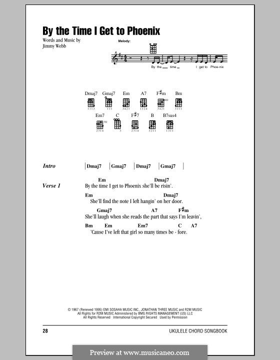 By the Time I Get to Phoenix: For ukulele by Jimmy Webb