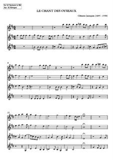Le chant des oiseaux: For clarinet quartet by Clément Janequin