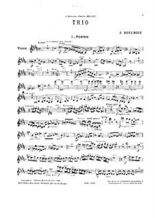 Piano Trio in B Major: Violin part by Joseph Boulnois
