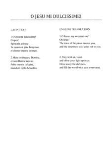 O Jesu mi dulcissime: Motet for SSA or SAT voices by Felice Anerio
