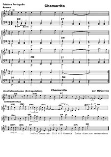 Chamarrita: Lead sheet by folklore