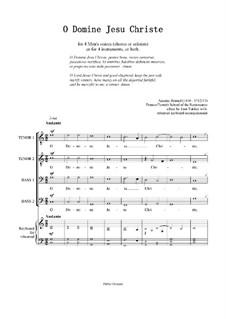 O Domine Jesu Christe for 4 equal voices: O Domine Jesu Christe for 4 equal voices by Antoine Brumel
