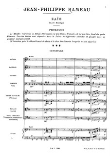 Zaïs, RCT 60: Overture by Jean-Philippe Rameau
