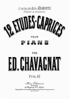 12 Etudes - Caprices: 12 Etudes - Caprices by Edouard Chavagnat
