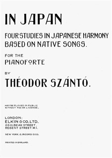 In Japan: For piano by Theodor Szántó