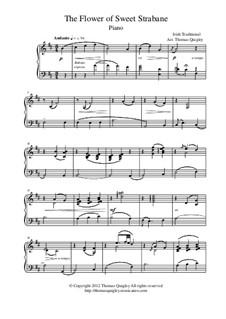 The Flower of Sweet Strabane: For piano by folklore