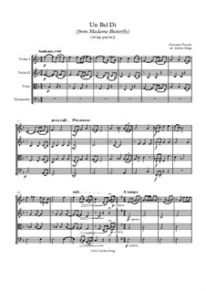 Madama Butterfly : Un bel dí, for string quartet by Giacomo Puccini