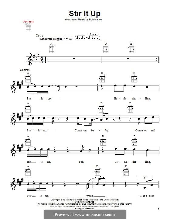 Stir It Up: For ukulele by Bob Marley