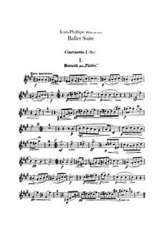 Ballet Suite on 'Platée' and 'Les fêtes d'Hébé': Clarinets parts by Jean-Philippe Rameau