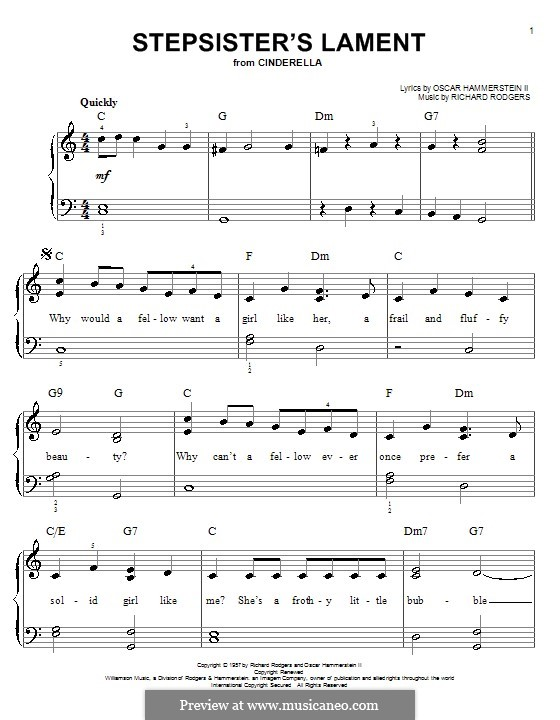 Stepsisters' Lament (from Cinderella): For piano by Richard Rodgers