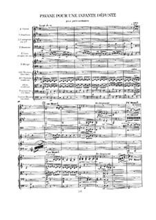 Pavane pour une infante défunte (Pavane for a Dead Princess), M.19: Full score by Maurice Ravel