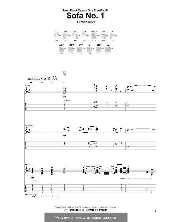 Sofa No1 by F Zappa sheet music on MusicaNeo : 192461w560x720 from www.musicaneo.com size 560 x 720 jpeg 52kB