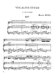 Vocalise-étude en forme de Habanera, M.51: For voice and piano by Maurice Ravel