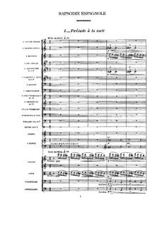 Rapsodie espagnole, M.54: Full score by Maurice Ravel