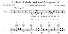 Drunten im Unterland: For voice and guitar by folklore