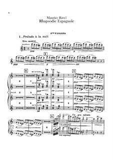 Rapsodie espagnole, M.54: Violins I part by Maurice Ravel